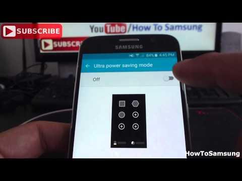How to Use ultra power saving mode on Samsung Galaxy S6 Basic Tutorials