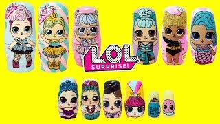 Download LOL SURPRISE Nesting Dolls Compilation Glitter Series, Series 1, Series 2 Toy Surprises Video