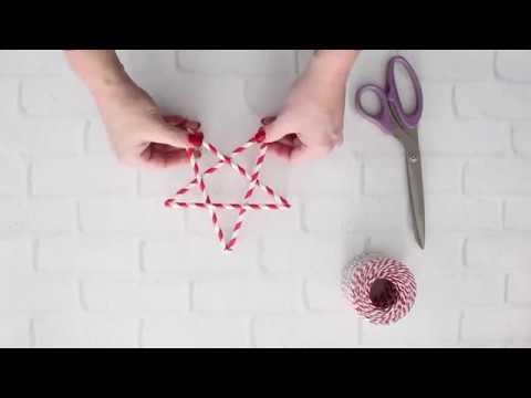 DIY Gift Topper: Drinking Straw Stars