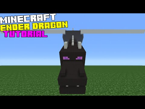 Minecraft Tutorial: How To Make The Ender Dragon Statue
