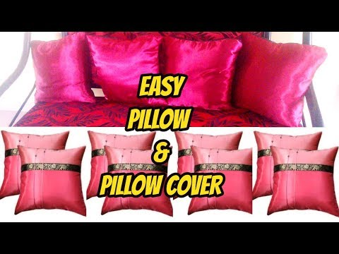 HOW TO MAKE PILLOW AND PILLOW COVER AT HOME