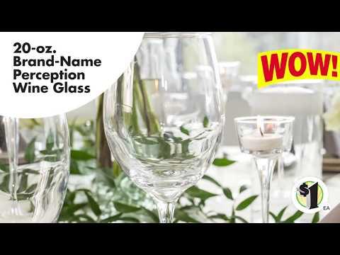 Brand-Name Perception White Wine Glasses, 20 oz.