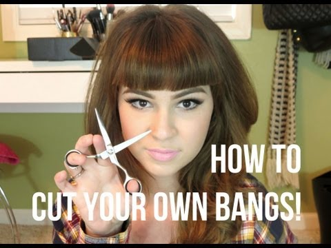 How To: Cut Your Own Bangs! Straight Across!