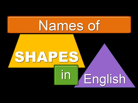SHAPES - Intermediate English for KIDS and ADULTS - Geometry Vocabulary