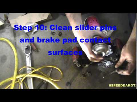 How to Replace the Front Brake Pads and Rotors on a 2005-2011 Dodge Dakota
