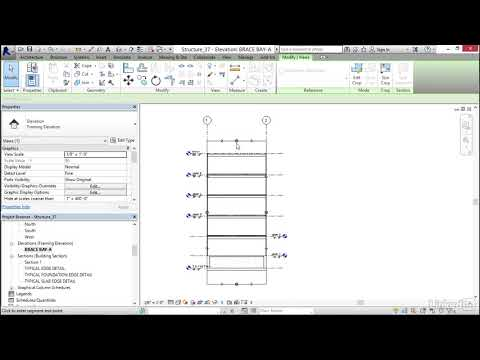 048 Adding a brace frame elevation