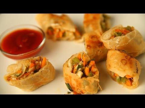 Spring Rolls/  स्प्रिंग रोल्स By Archana - Vegetable Roll - Easy & Quick Snack Recipe
