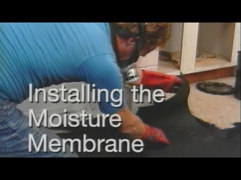 How to install waterproof membrane. Installing felt paper on floor