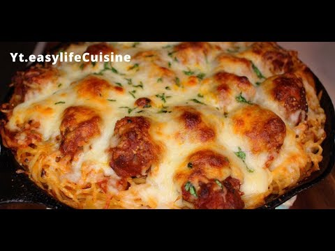 How to make Baked Spaghetti and Meatballs//easylifeCuisine Pasta Holiday series