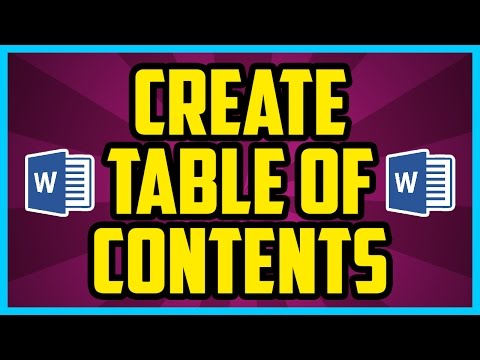 How To Create A Table Of Contents In Microsoft Word. Quick Table Of Contents Tutorial Word 2010