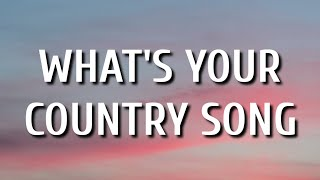Gambar Thomas Rhett - What's Your Country Song (Lyrics)