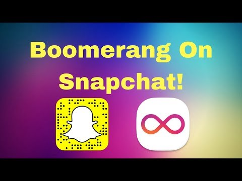 Snapchat: How To Get Boomerang Video (Hack)