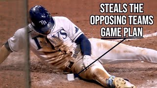 The Jays throw at Kiermaier because he stole their secrets, a breakdown