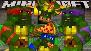 Minecraft School - TEENAGE MUTANT NINJA TURTLES PIZZA!