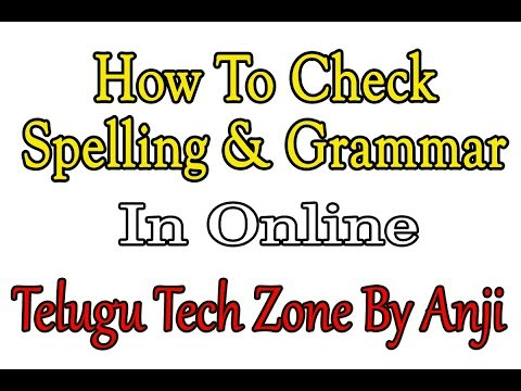 How to Check Spelling and Grammar in online | Spell Checker