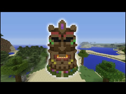 Minecraft Tutorial: How To Make A Tiki Head House