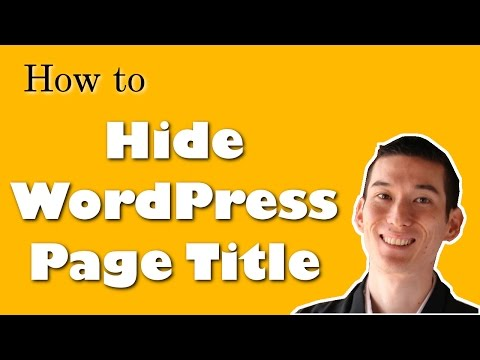 How to Hide WordPress Page Title