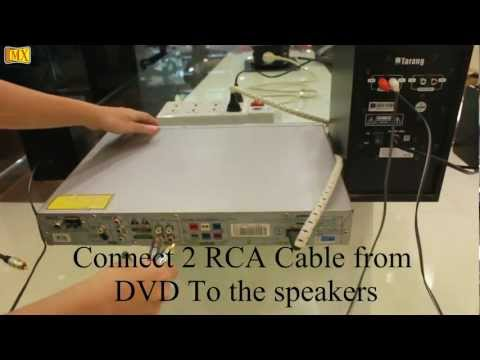 How to connect Computer Speakers to the DVD Player