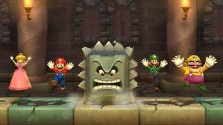 Mario Party 9 Step It Up - Peach vs Mario vs Luigi vs Wario Master Difficulty| Cartoons Mee