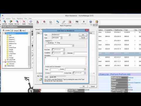 Recording Maintenance Tasks With HomeManage