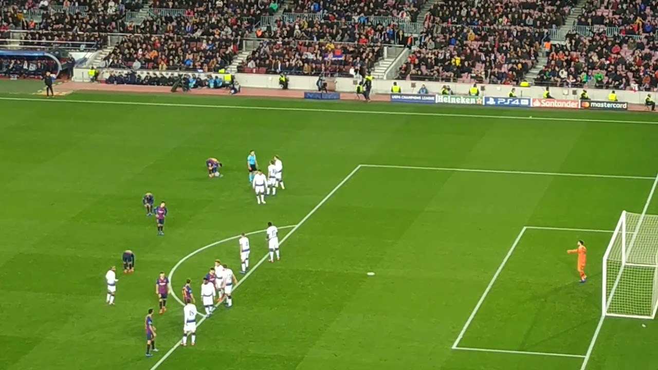 Lionel messi free kick vs tottenham hotspur in UCL -1080i Full HD