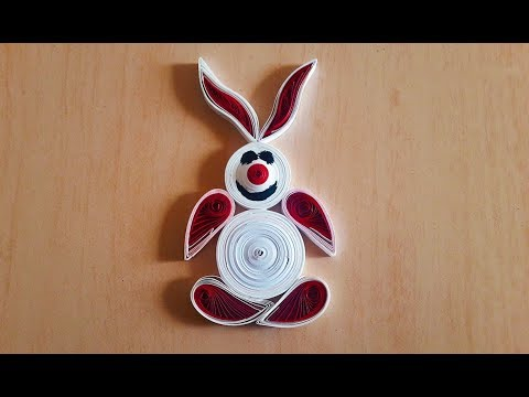 How to make a paper rabbit || origami paper rabbit || Quilling arts and crafts