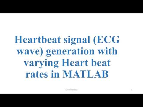 Heartbeat signal ECG wave generation with varying Heart beat rates in MATLAB