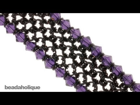 How to Make a Japanese 8-in-2 Chain Maille Bracelet With SWAROVSKI Edging