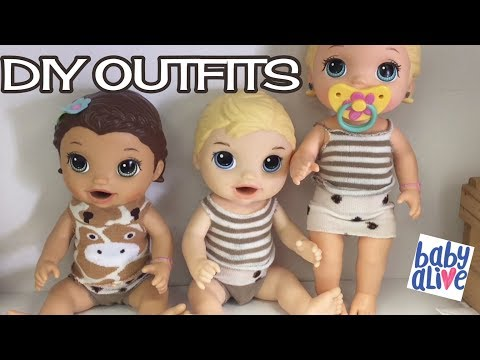 Baby Alive Clothes fun project to make outfits for Baby Alive dolls and SHOUT OUT