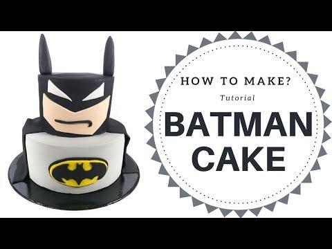 【Batman】Batman Cake Tutorial (3 mins)  | Irma's fondant cakes