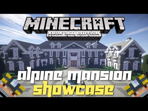 Minecraft Xbox 360: Massive Realistic Mansion! (House Tours of Los Dangeles: The Alpine Mansion!)