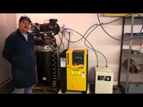 Our new Kaeser 5hp Rotary Screw Air Compressor