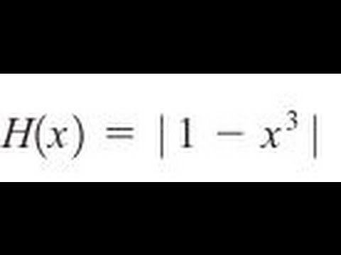 Express the function in the form f of g for abs(1-x^3)