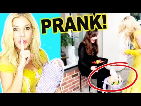 DROPPING A FAKE BABY PRANK ON HALLOWEEN! (day 303) comp