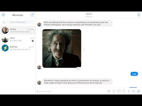 Chat with 'Einstein' Via Facebook Messenger : Genius Bot