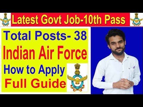 Indian Air Force Recruitment Group C ,Fill Application Now Government Job Vacancy