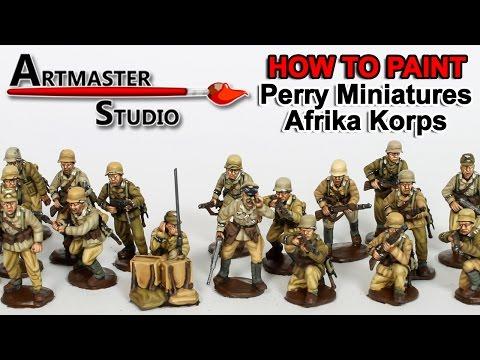 Artmaster Studio: How to Paint Perry Miniatures Afrika Korps