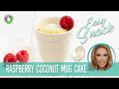 Raspberry Coconut 60 Second Microwave Mug Cake - Protein Treats By Nutracelle