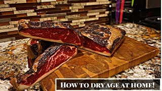 How to DRY AGE BEEF AT HOME!? -35 day NY strip loin (UMAi Dry)