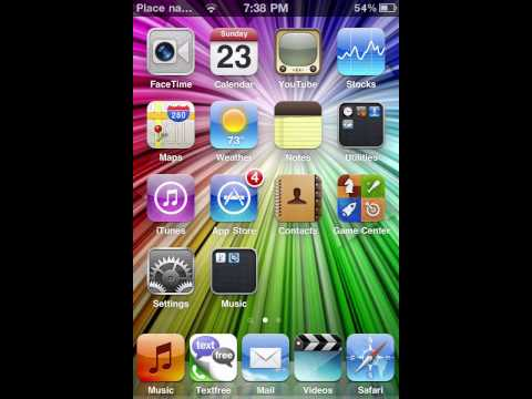 how to put your name on your ipod touch or iphone