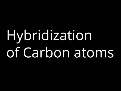 How to Identify the hybridization of Carbon Atoms?