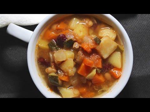 Easy Vegan Italian Garbanzo Bean Soup Recipe