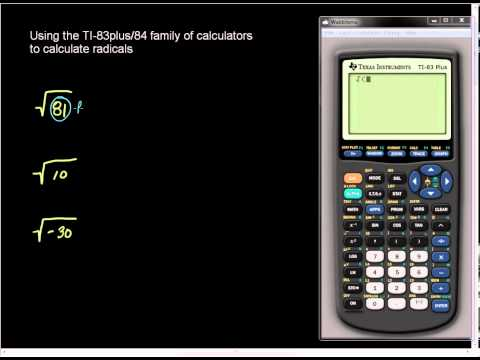 Square Root on the TI-83plus and TI-84 family of Calculators