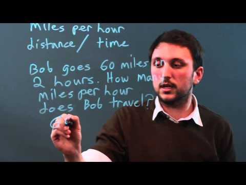How to Find Rate of Speed in MPH in Algebra