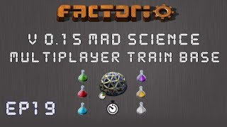Factorio 0.15 Mad Science Ep 19: Building The Smelter! - Multiplayer Train Base, Let