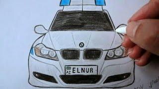 BMW polis masinini nece cekmek lazimdir(Ehedov Elnur)Как нарисовать полицейскую машину_How to draw police car step by step_How to draw a car BMW step by step  Production Music courtesy of Epidemic Sound!