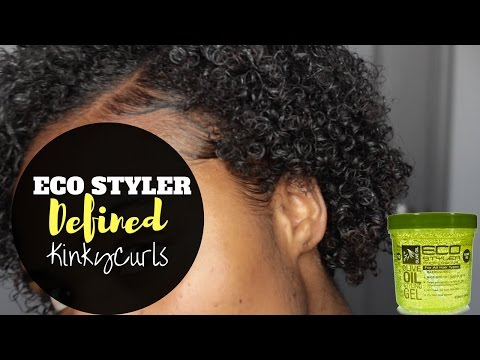 DEFINING MY CURLS WITH ECO STYLER GEL | POPPIN KINKY CURLS