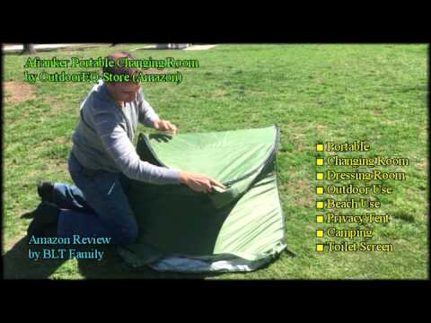 How To Fold A Portable Changing Room Dressing Privacy Toilet Close Popup Folding Case Pack