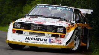 Walter Röhrl im Audi S1 - Eifelrallye Shakedown [HD]