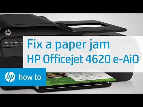 Fixing a Paper Jam on the HP DeskJet 3634 Printer - Hp